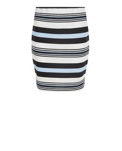 Teens White Stripe Tube Skirt | New Look