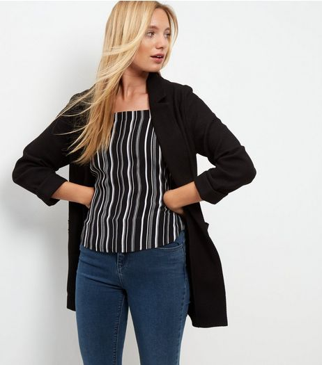 Tall Black Waffle Textured Blazer  | New Look