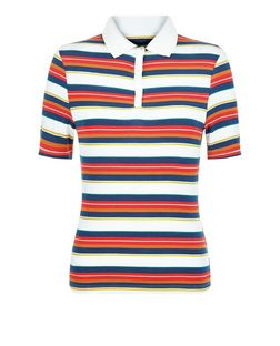 Red Stripe Polo Shirt  | New Look