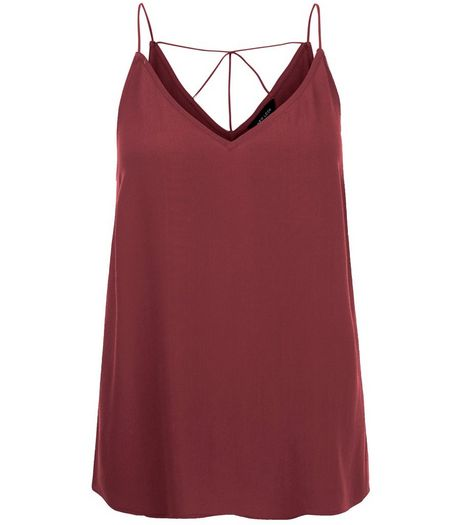 Burgundy Strappy Back Cami | New Look