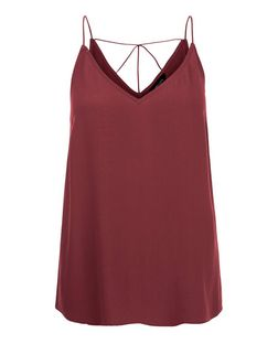 Burgundy Strappy Cami | New Look