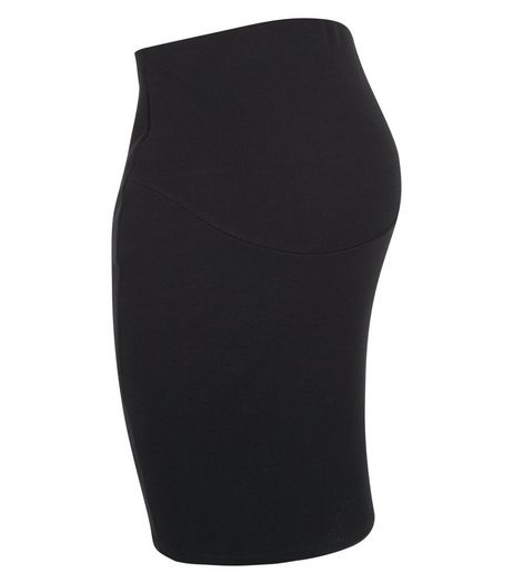 Maternity Black Over Bump Pencil Skirt | New Look