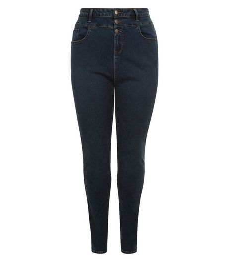Curves Blue High Waist Skinny Jeans | New Look
