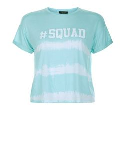 Teens Mint Green #Squad Tie Dye Print T-Shirt | New Look