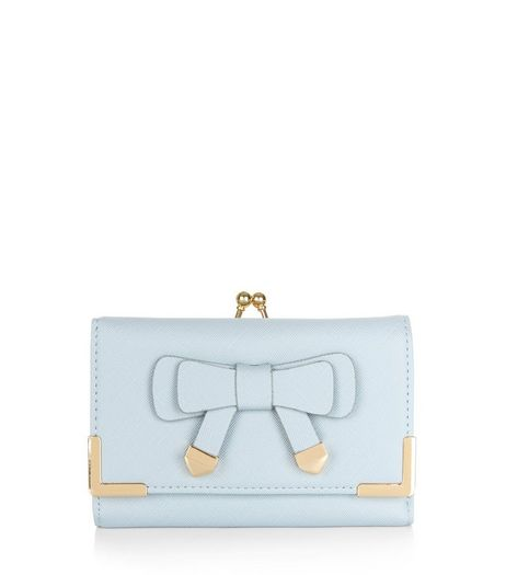 Light Blue Bow Front Purse | New Look