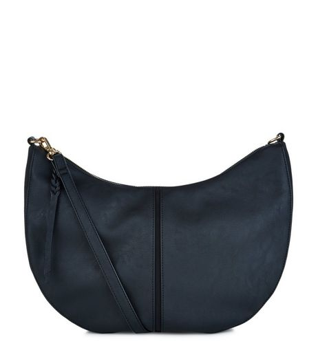 Black Scoop Shoulder Bag  | New Look