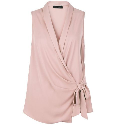 Light Purple Wrap Tie Side Shell Top | New Look