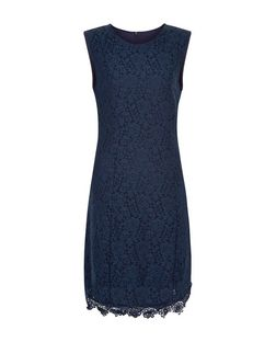 Apricot Navy Lace Sleeveless Dress | New Look