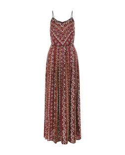 Pink Aztec Print Pleated Maxi Dress | New Look