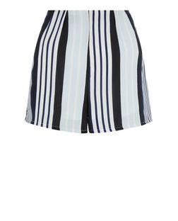 Cameo Rose Blue Stripe Print Shorts | New Look