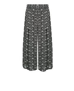 Cameo Rose Black Tile Print Culottes  | New Look