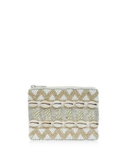 Cream Shell Embellished Purse  | New Look