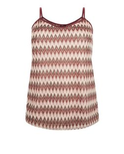Curves Pink Zig Zag Print Cami | New Look