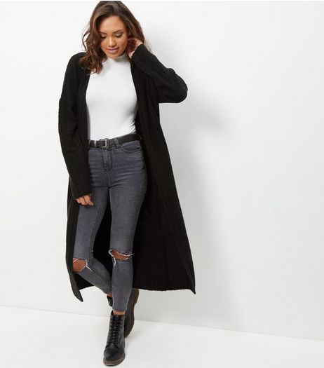 JDY Black Longline Cardigan | New Look