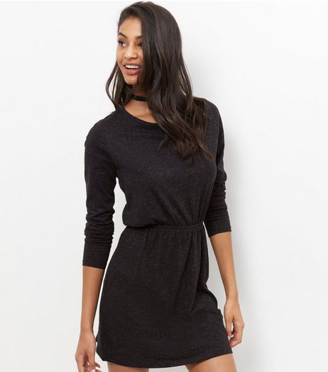 JDY Black Long Sleeve Dress | New Look