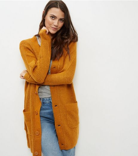 JDY Rust Longline Cardigan  | New Look