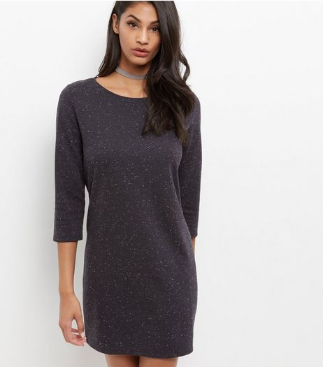 JDY Black 3/4 Sleeve Dress | New Look