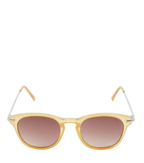 Camel Round Sunglasses | New Look