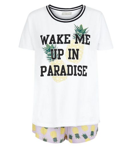 Tall Purple Pineapple Print Pyjama Set | New Look
