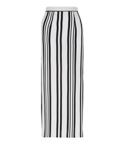 Petite White Stripe Maxi Skirt | New Look