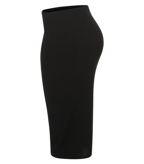 Maternity Black Over Bump Tube Skirt | New Look