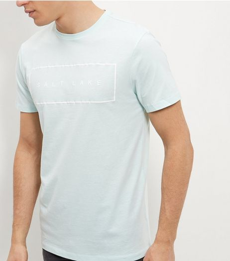 Mint Green Salt Lake T-Shirt  | New Look