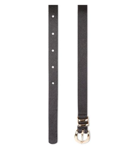 Curves Black Double Keeper Belt  | New Look