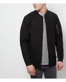 Black Long Sleeve Baseball Shirt | New Look