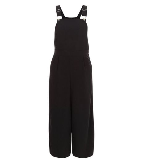Black Culotte Jumpsuit  | New Look