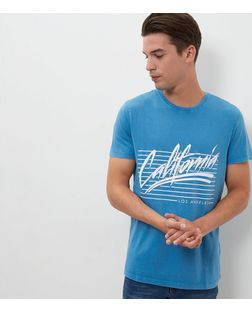 Bright Blue California T-Shirt  | New Look
