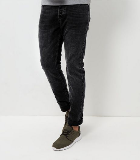Dark Grey Slim Fit Jeans  | New Look