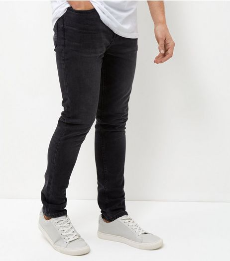 Black Acid Washed Skinny Jeans | New Look
