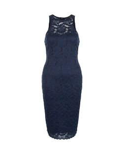 AX Paris Navy Lace Midi Dress | New Look