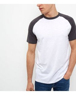 Dark Grey Raglan Short Sleeve T-Shirt | New Look