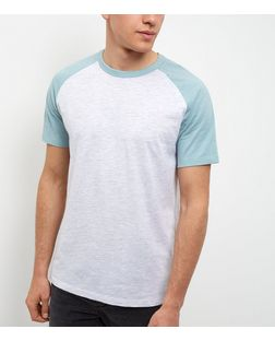 Mint Green Raglan T-Shirt | New Look