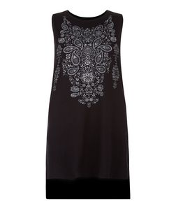 Black Paisley Print Tank Top | New Look