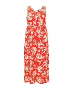 Plus Size Red Floral Print Maxi Dress | New Look