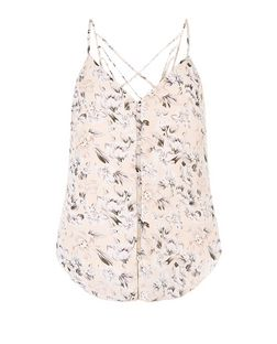 Parisian Pink Floral Print Button Front Cami | New Look