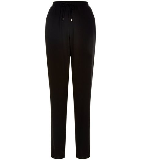 Black Stripe Side Drawstring Trousers | New Look