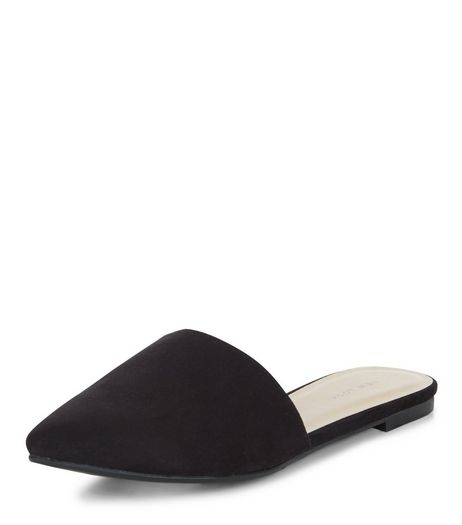 Black Pointed Mules  | New Look