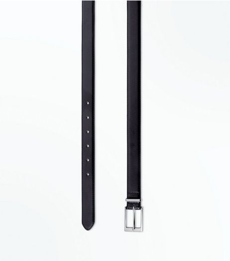 Black Leather-Look Belt | New Look