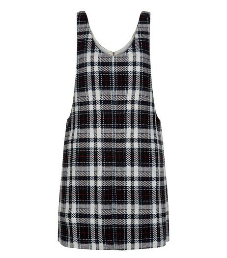 White Check Pinafore Dress  | New Look