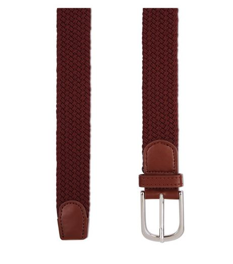 Burgundy Woven Elasticated Belt | New Look
