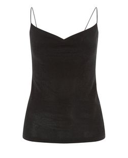Black Cowl Neck Cami  | New Look