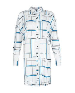 Innocence White Check Shirt Dress | New Look