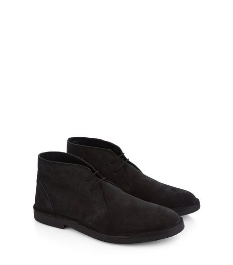 Black Suede Desert Boots | New Look