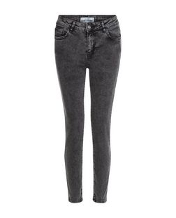 Black Acid Wash Skinny Jeans  | New Look