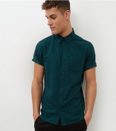 Green Short Sleeve Shirt | New Look