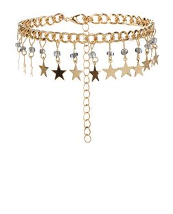 Gold Star Charm Anklet | New Look