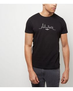 Black Skyline T-Shirt | New Look